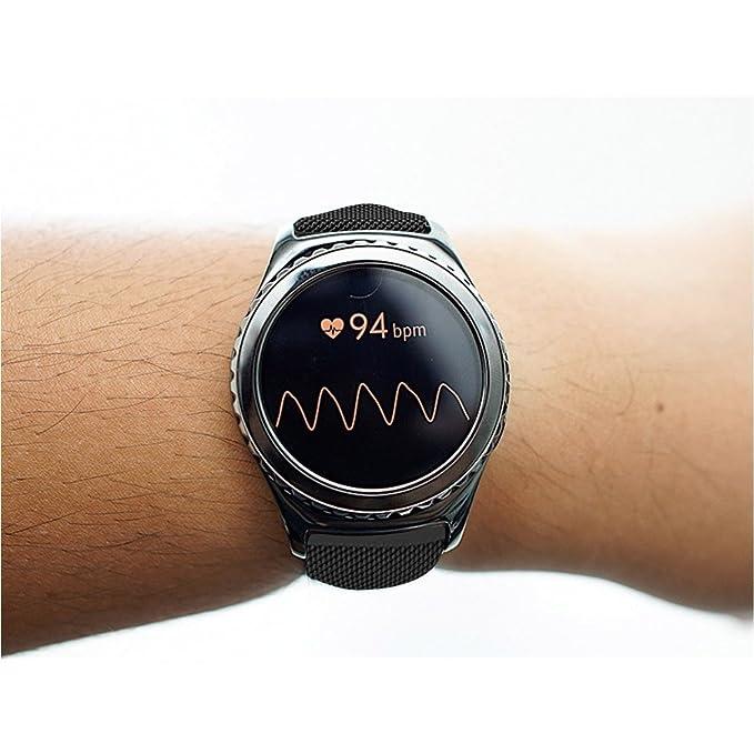Samsung Gear S2 Classic Correa, Correa De Reloj De 20mm, einBand Cierre de cierre totalmente magnético Bucle de malla Milanese acero inoxidable Metal ...