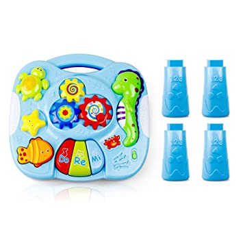 Toy Mesa de Aprendizaje Musical Juguetes para bebés de 6 a 12 ...