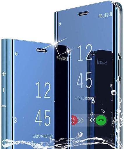 TOPOFU Funda Xiaomi Mi A3, Flip Smart Clear View Standing Cover ...