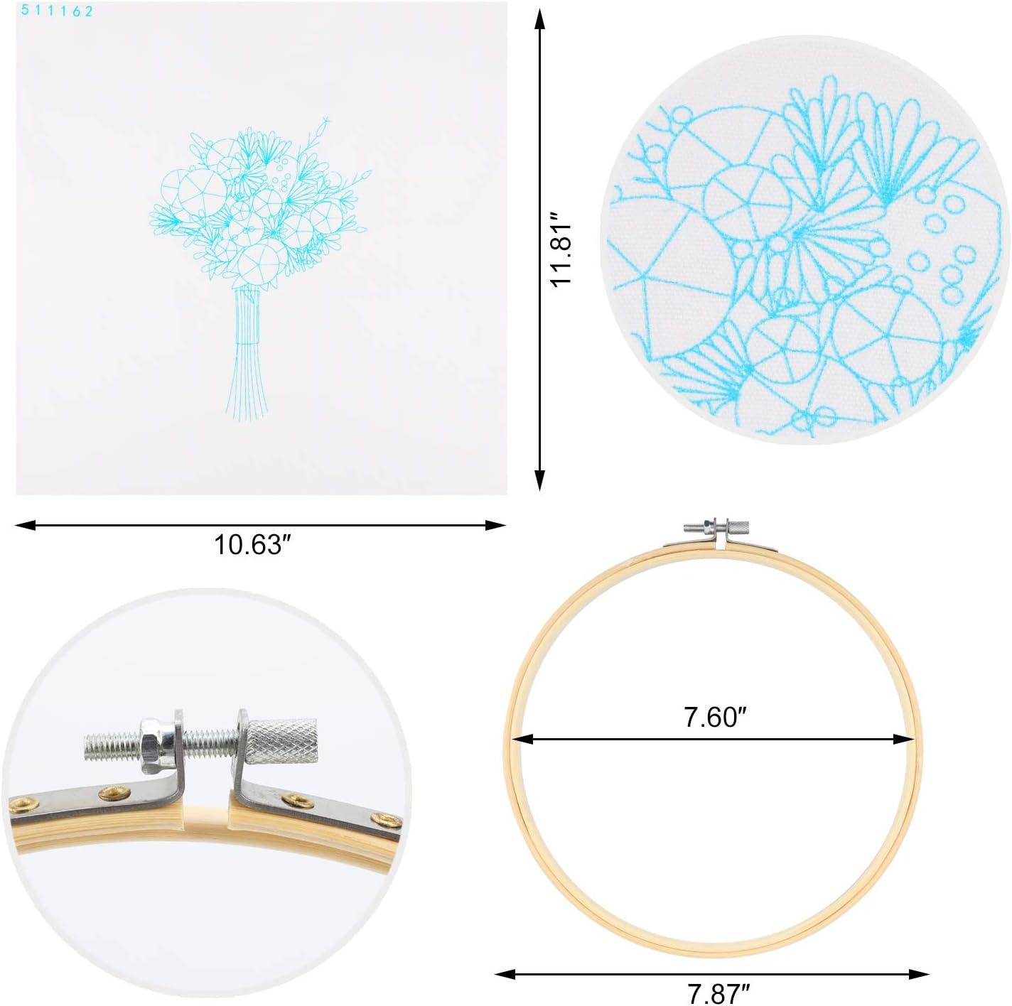MWOOT 3D Point de Croix Starter Kit avec Motif de Bouquet DIY Style europ/éen Cross Stitch Embroidery Starter Kit,Kit de Couture /à la Main pour Adultes D/ébutant,Rose