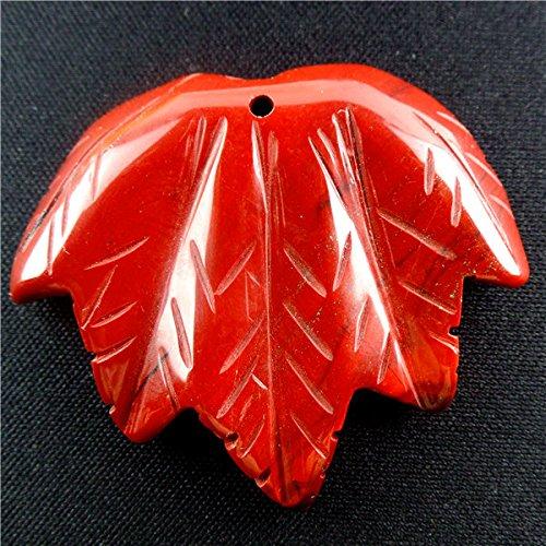 - Carved Rainbow Jasper Leaf Pendant Bead DIY Necklace Pendant bead