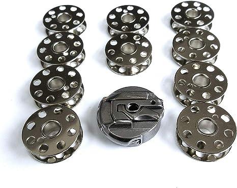 Bobbin Case # 45751 + 10 bobinas para máquina de coser Singer Featherweight 221 222: Amazon.es: Juguetes y juegos