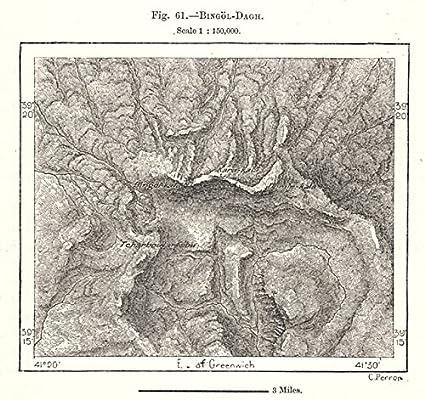 Amazoncom BingolDagh Turkey Sketch map 1885 old map