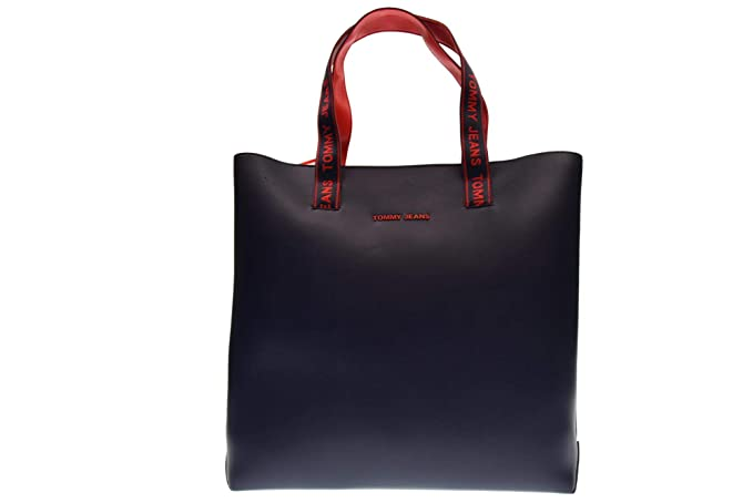 Tommy Hilfiger JEANS BORSA DONNA BLU 37X3X10 CM  Amazon.it  Abbigliamento 8cbd42f5d85