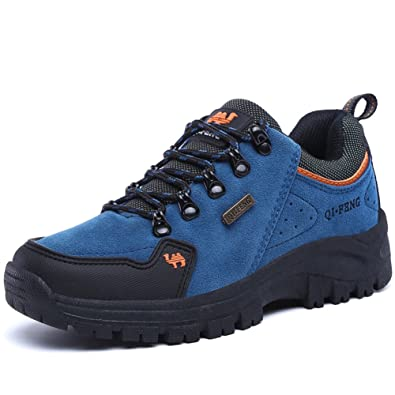 Unisex couple Men's Women's Outdoor Suede Leather lace-up shoe Hiking Shoes Backpacking boot