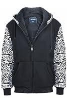 Lee Hanton Men's Zip Up Soft Sherpa-Lined Fleece Hoodie Sweatshirts