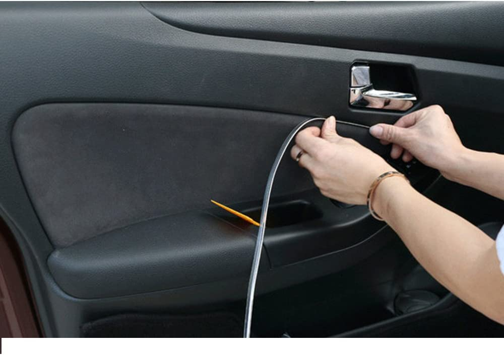 Auto Interior Molding Strip Chrome Trim Protector Line Panel Gap Decoration 15ft