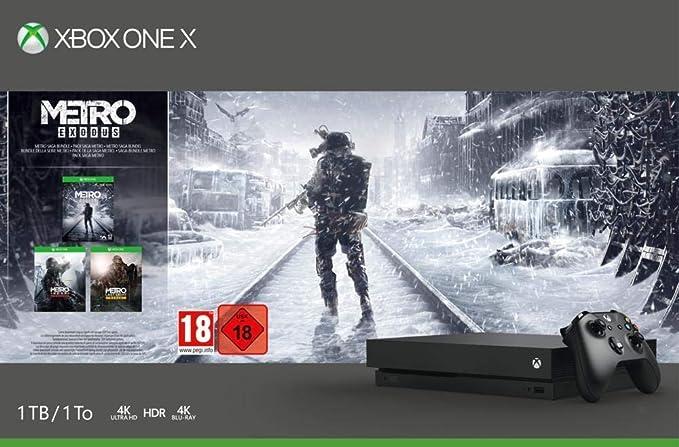 Microsoft Xbox One X - Consola 1 TB + Metro Exodus Collection + FIFA 20 + Xbox Game Pass Ultimate - 3 Meses: Amazon.es: Videojuegos
