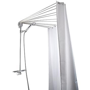 Support rideau de douche parapluie my blog for Tringle rideau de douche angle