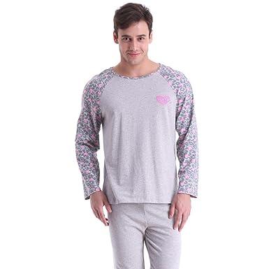 Primavera ropa de noche de los hombres de dos piezas/ pijamas de ...