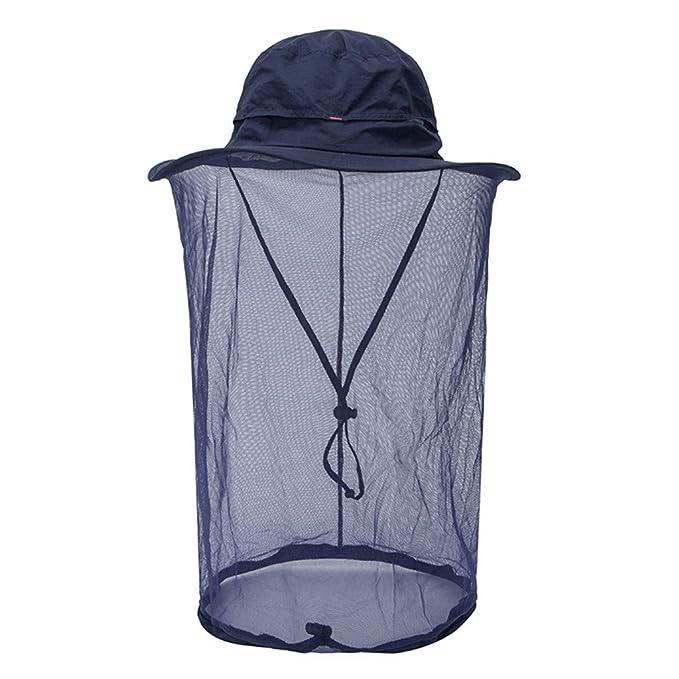 Rcool Gorras de béisbol Viseras Gorro de pescador Pamelas Sombreros Panamá, Sombrero neto ocultado al aire libre de la malla del cubo del sol de la red de ...