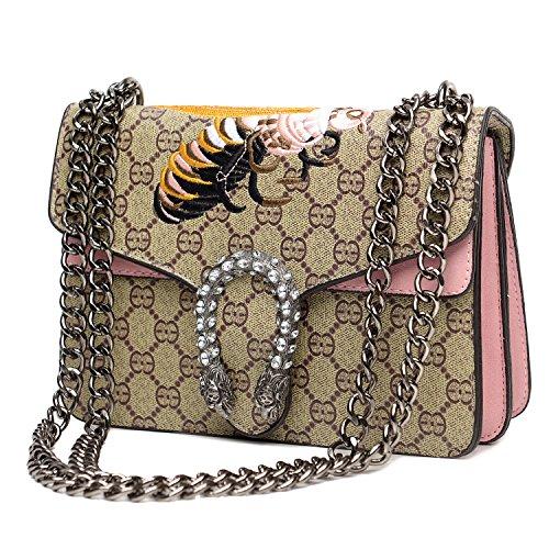 Vintga Cross-body Bag for Womens Handbag Single Shoulder Bag Purse Messager Bags (Pink) (Bag Gucci)