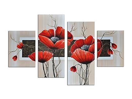 Amazon Noah Art Modern Paintings Of Flowers Red Flowers