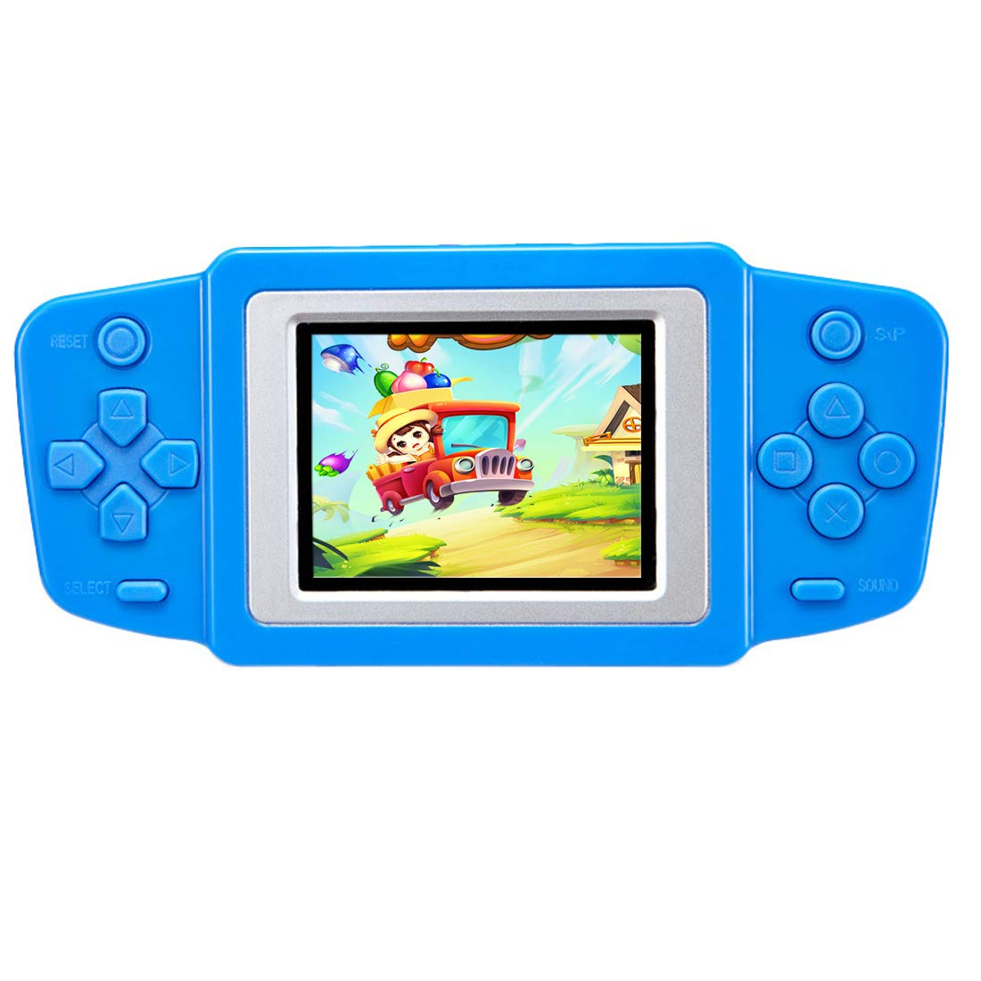 Beico Handheld Games for Kids with Built in 218 Classic Retro Video Games 2.5'' Color Screen Portable Rechargeable Arcade Gaming Player for Boys Girls Birthday (Blue) by Beico