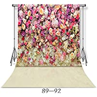 WOLADA 10x10ft Rose Floral Wall Photography Backdrop Vinyl Background Photography Prop for Wedding Studio Props 8892