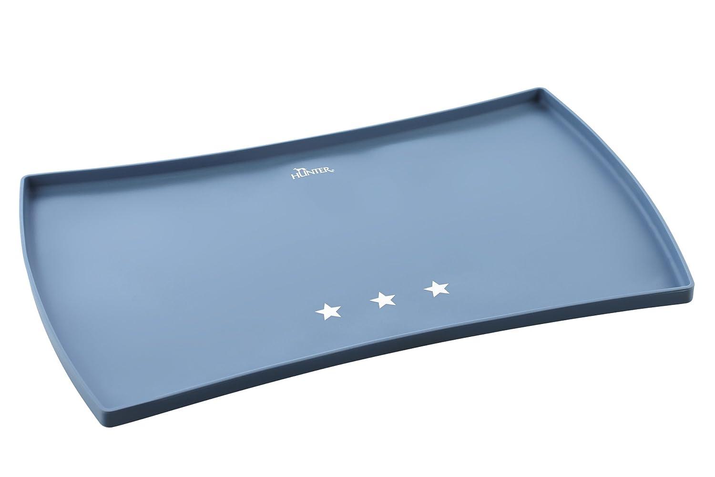 HUNTER 64470Dessous de gamelle Aarhus Silicone, étoiles, 48x 30cm, Bleu/Blanc