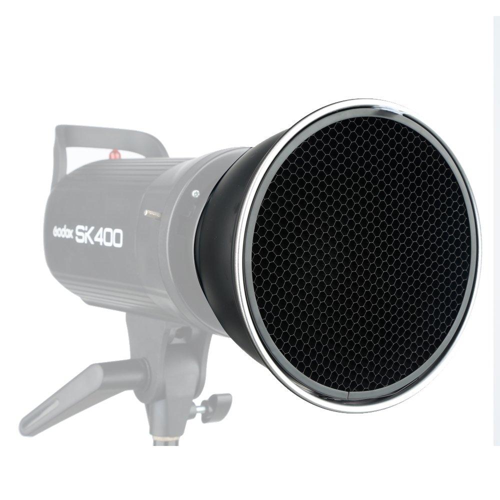 Godox Standard Reflector 7''/18cm Diffuser with 20/40/60 Degree Honeycomb Grid for Bowens Mount Studio Light Strobe Flash by Godox (Image #3)