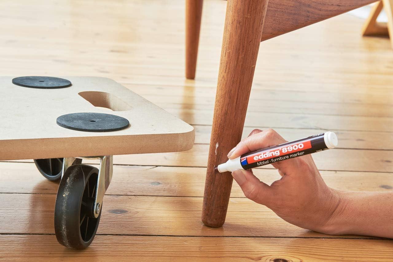 edding e-8900-1-4621 - Marcador para retocar muebles color Aliso medio, Retoca y repara arañazos y desperfectos