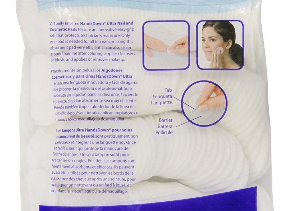 Amazon.com : Graham HandsDown Ultra Nail Pad and Cosmatic Lint Free Nail Wipes for Gel Nails & Nail Art - Contains 240 pads (Pack of 3) : Beauty