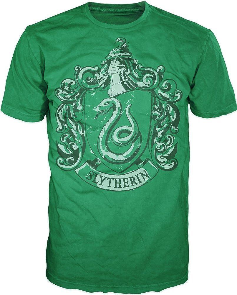 Harry Potter Slytherin Crest Mens Black T-Shirt