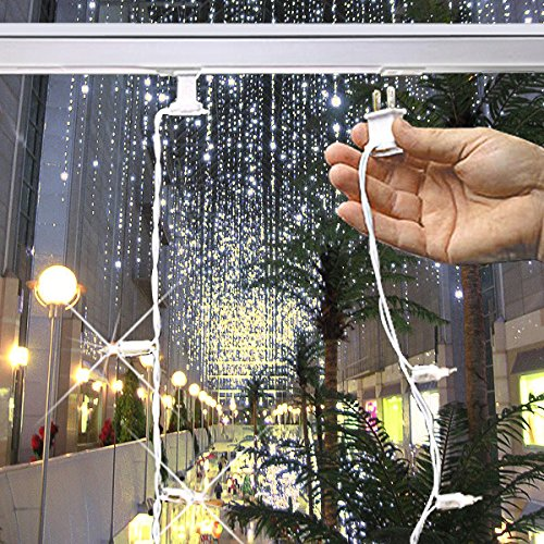 Gki Bethlehem Lighting Curtain - 35 Bulbs 12 ft. Christmas Light Curtain Bulb Spacing 4 in. White Wire 120V