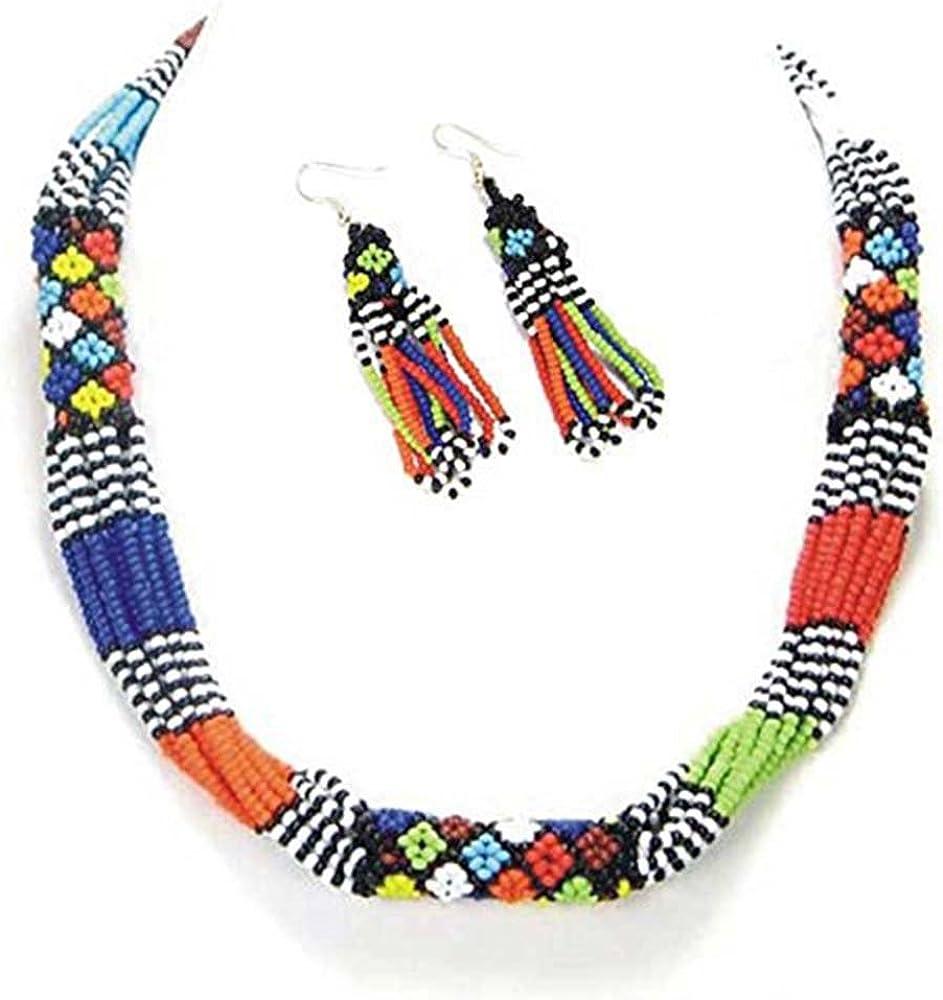 African Masai Collar Maasai Necklace Multi Color Jewelry Women Accessorie