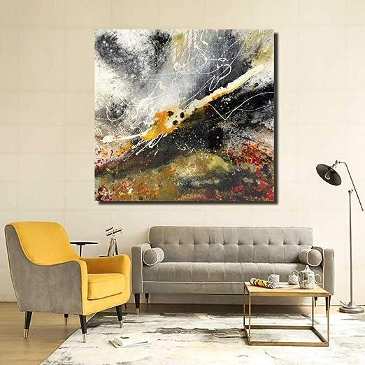 WSNDGWS Pintura Decorativa Abstracta Pintada a Mano Pintura ...