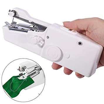 Mini Máquina de Coser Portátil de AOWEIKA, Herramienta Manual Portátil Herramienta de Puntada Rápida para Tela, Ropa o Tela de Niños: Amazon.es: Hogar