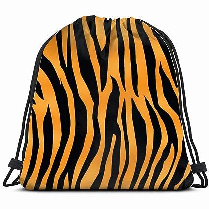Tiger Print Stripes Skin Texture Belleza Cordón Bolsa ...