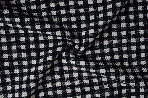 Beauty7 Negro Blanco Thousand Grid Slim Pescado Tail Vestidos de Noche Vestidos Mujer Faldas Mangas Corta Bodycon Elegante Coctel Noche Negocios Partidos Fiestas Tabajo Casual Verano Ocasionales Grid
