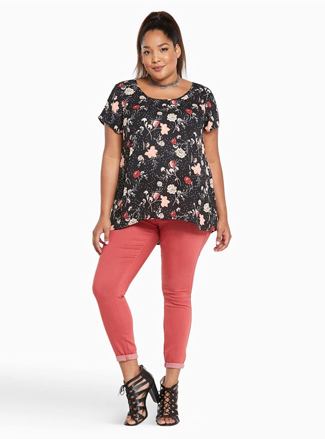 Torrid Jeggings - Mineral Red Wash