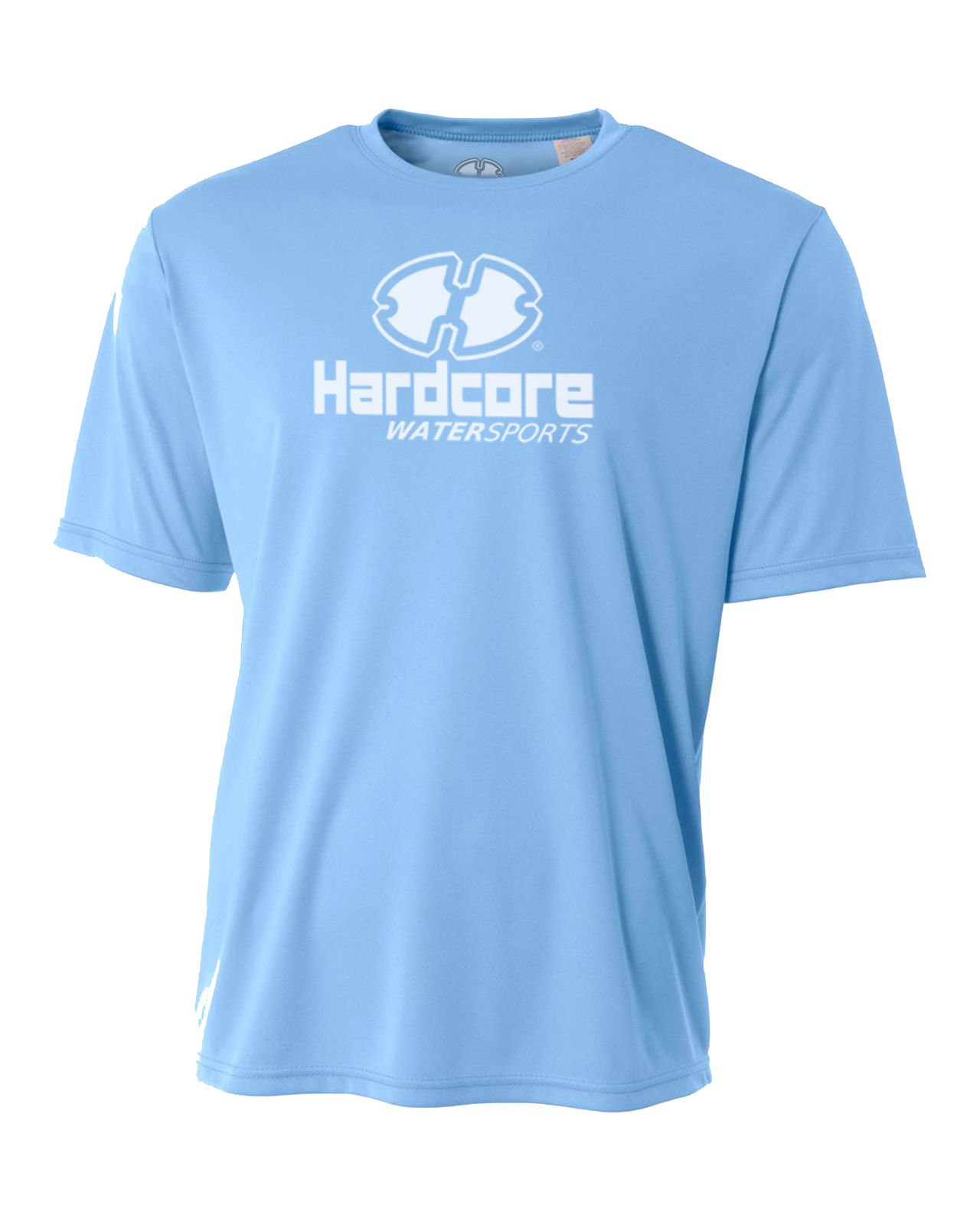 Hardcore Water Sports Mens Rash Guard Surf Swim Shirt SPF Protection Loose Fit Light Blue