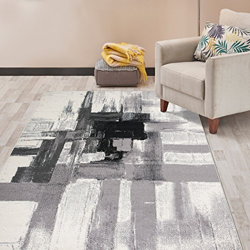 Rugshop 950Black9x12 Nevada Area Rug, 9′ x 12′, Black