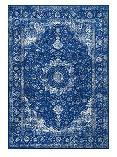 nuLOOM Accent Rugs, 5' X 7' 5'', Dark Blue by nuLOOM