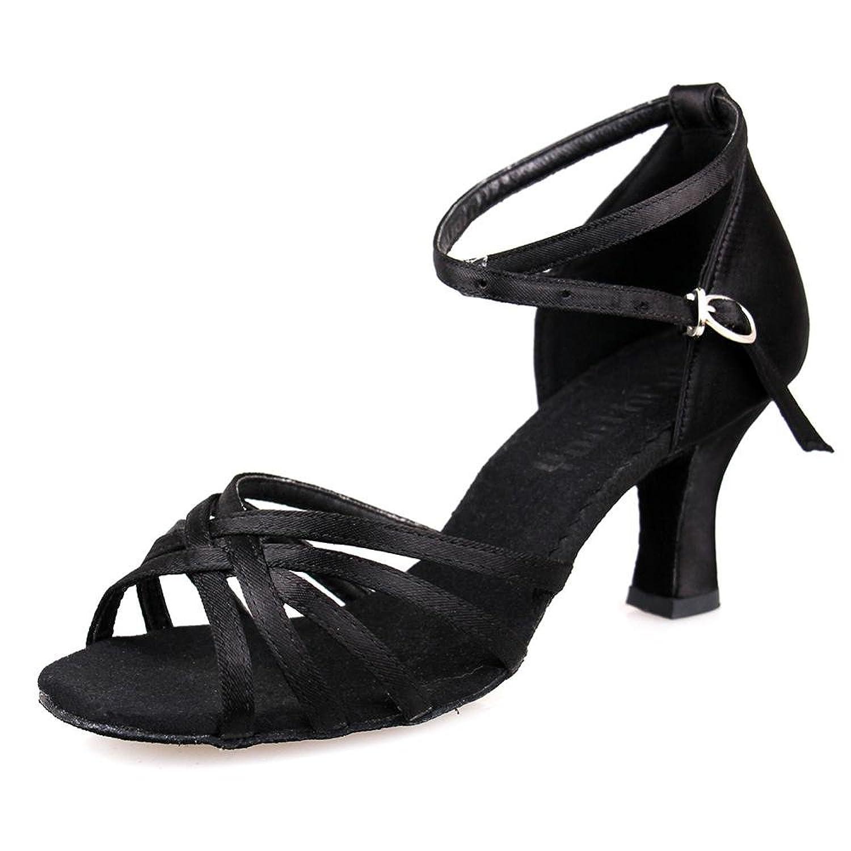 YFF Zapatos de baile latino de satén Tango Salón profesional Zapatos de