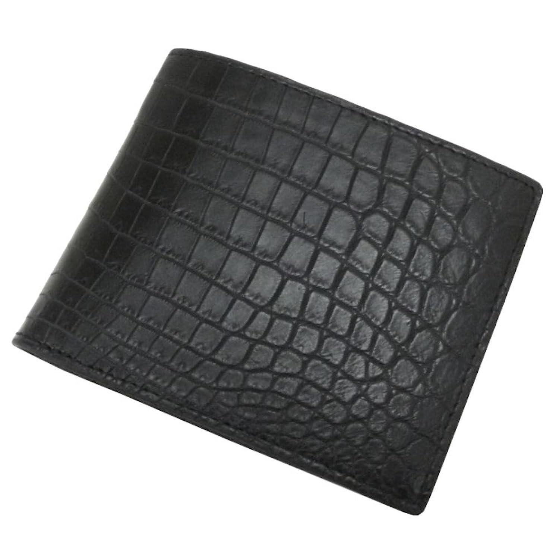 [サンタマリア] SantaMaria クロコダイル 財布 メンズ 両面マット 二つ折り 財布 ブラック B06XHKPGMY