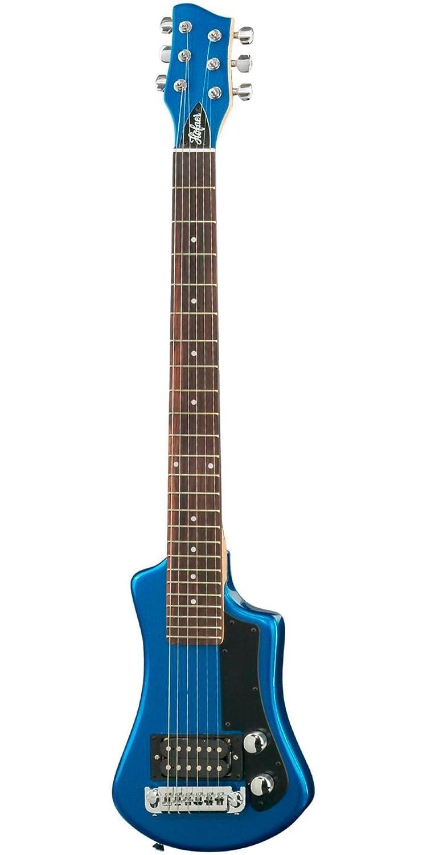 hofner hct shorty travel sized electric guitar blue with gig bag ebay. Black Bedroom Furniture Sets. Home Design Ideas