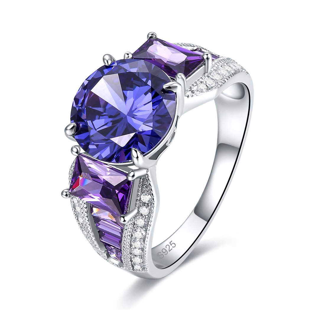 Merthus Womens 925 Sterling Silver Created Tanzanite Ring