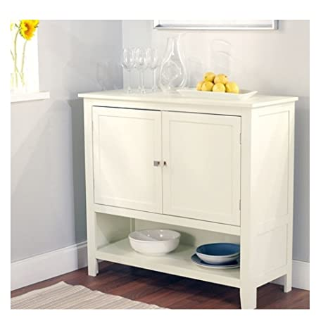 Kitchen Dining Storage Cabinet Sideboard Buffet Server In Antique White Room Wood
