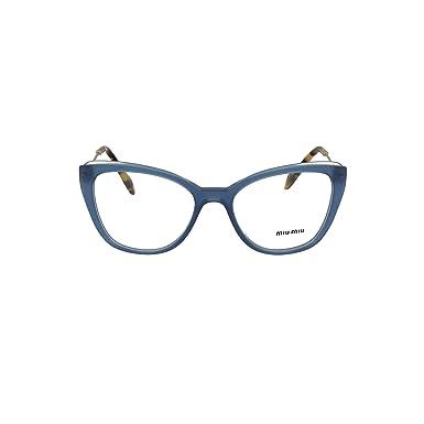 ff7fad9f6f1 Miu Miu MU 02QV - VYC1O1 Eyeglass Frame BLUE TOP TRANSPARENT BLU ...