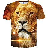 Hgvoetty Mens 3D Printed Pattern Short Sleeve Round Neck Tees Graphic S
