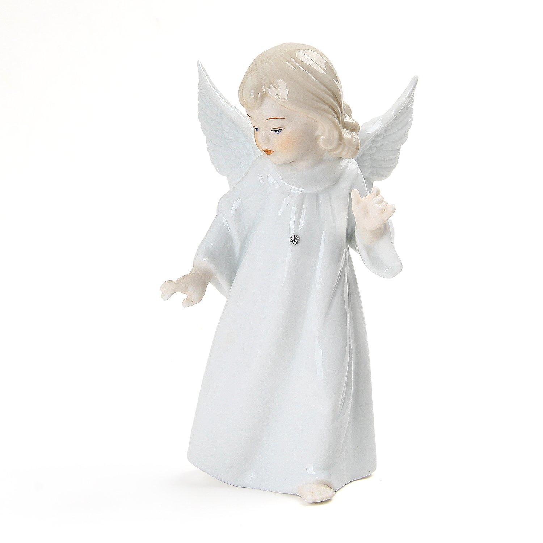 Porcelain Little Angel Doll Statues Christmas Crafts Decorations,6.7'' H,WISEUS(25)