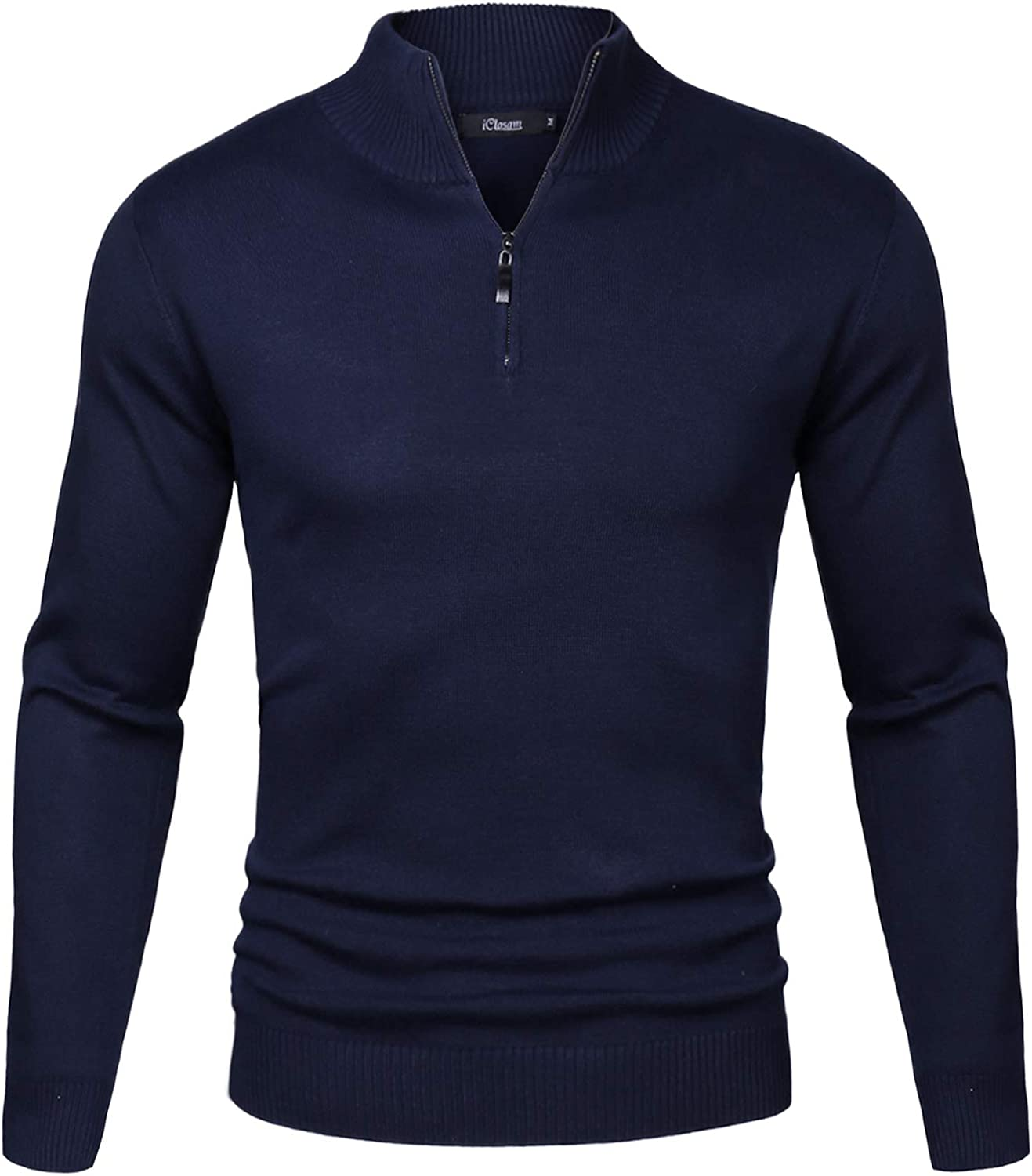 iClosam Mens Set-in Classic Sweater Pullover Jumper Knitwear