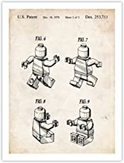 Steves Poster Store LEGO 3D MINIFIGURE POSTER 1979 Patent Art Print, 18 by 24""