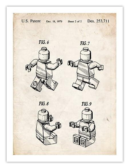 Amazon.com: Steves Poster Store LEGO 3D MINIFIGURE POSTER 1979 ...