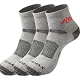 SANTO 3 Pairs Thin Quick-drying Running Trekking Travel Men's Casual No Show Socks(<9 US size)(Gray)