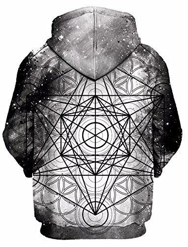 Premium All Over Print Hooded Sweatshirt Set 4 Lyfe Metatronic Hoodie