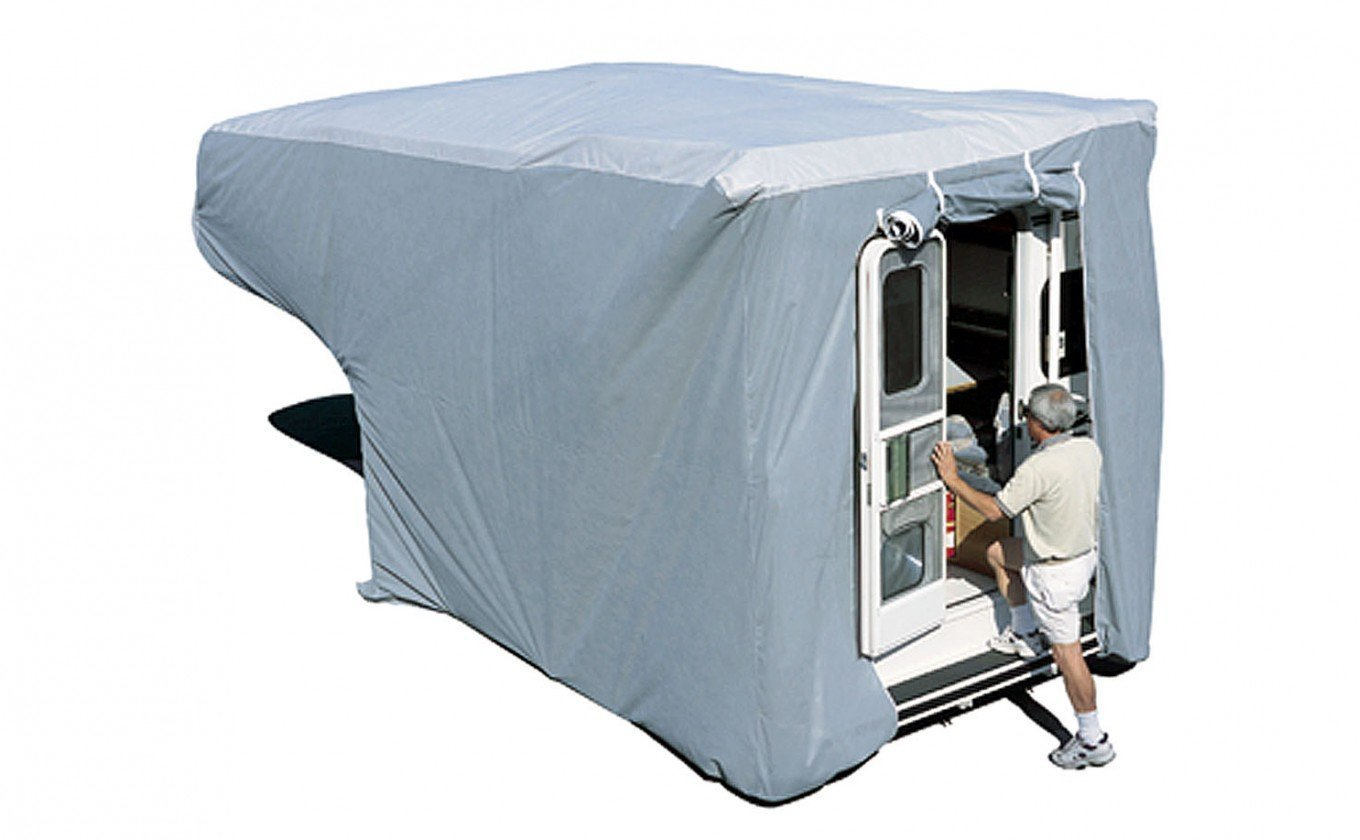 ADCO 12263 SFS Aqua Shed Truck Camper Cover - 10' to 12' , Gray, Large - 214'' - 240'' by ADCO