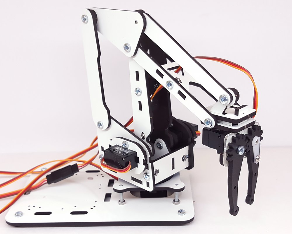 ArmUno 2.0 MeArm and Arduino Compatible DIY Robot Arm Kit With MeCon Motion Control Software and Arduino Source Code Via Download Link by MicroBotLabs (Image #2)