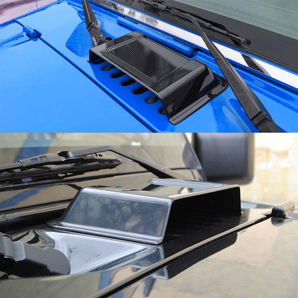 Tickas Casquillo Exterior De La Toma De Aire Del Coche,Cubierta exterior de la cubierta de la cubierta de la capilla de la tapa de la toma de aire del coche para el negro 2007-2017 del jeep Wrangler